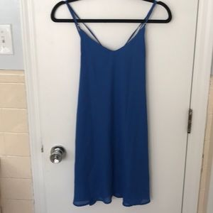 Strappy blue dress
